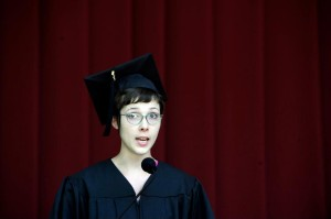 Apparently I wasn't wearing my mortarboard correctly, but if I pulled it down all the way I looked bald.