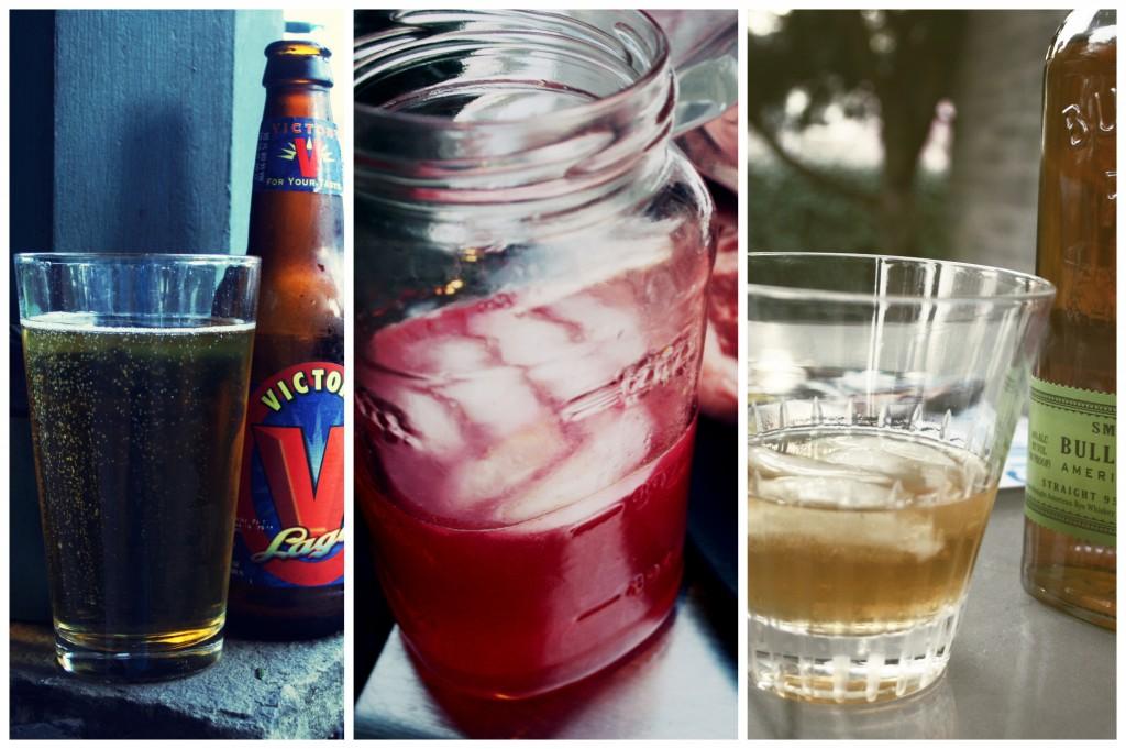 Drinks: Victory Lager, Blood Orange Gin Sparkler , Bulleit Rye (which ...