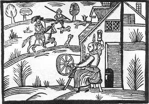 800px-Woodcut_Woman_Spinning
